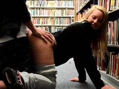 Hot Student Couple Fucking In The Public Library