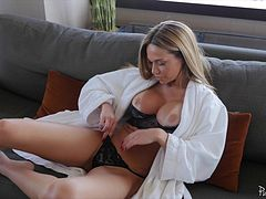 Lonely milf beauty invites him over to make love to her