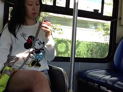Candid Asian Feet and Legs on the Bus