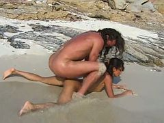Steamy Eva Roberts Gets Fucked Doggystyle At The Beach