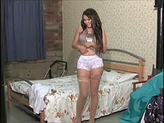 1398-2 Amy Anderson strips before sex