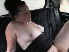Natural busty bbw fucks in fake taxi