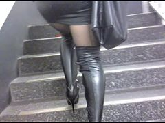 Upstairs in Latex and Lether