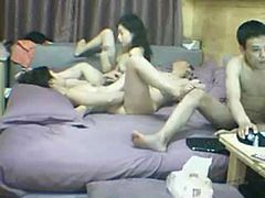 Chinese webcam foursome