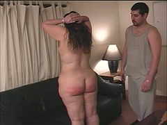 Candy is spanked after showing her ass