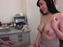 Kinky doctor exploits kitty of slutty Asian girl Miu Watanabe