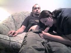 British young amateur babe has fun with her brother's friend.