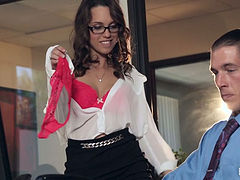 Nasty Jade Nile seduces her boss and lets him fuck her pussy
