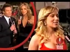 Scarlett Johansson boob grab on red carpet video - Funny videos - Fun only