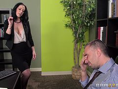 Jayden Jaymes is fucked in an office