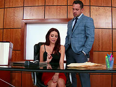 monique alexander johnny castle in naughty office