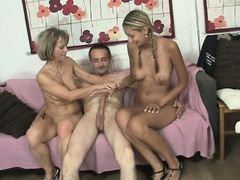 Oral threesome with her BF's parents