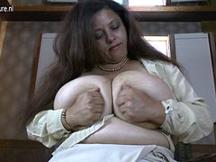 Spanish mother with amazing huge boobs