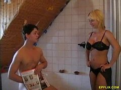 German milf fucks with a young man