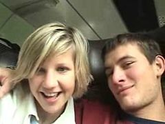 AmateurWow.com  Filthy Czech slut swallows on public train  #1 Amateur Movies