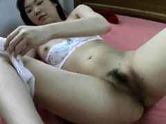 nasty asian blonde babe gets horny when