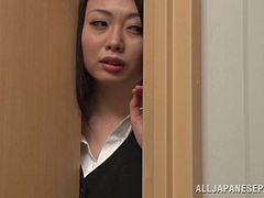 Japanese office girl receives hardcore pounding as she moans