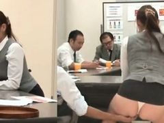 Cute Japanese office has no pants