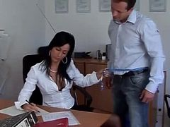 Dirty Office Brunette
