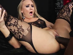 Aj Applegate get Anal from Mandingo in Lingerie