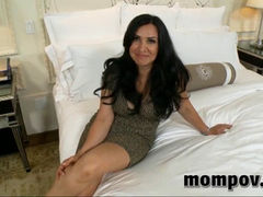 brunette mom sucks and fucks in pov