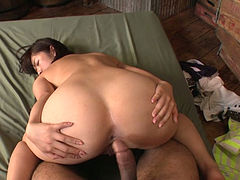 Sexy Asian hoe Wakaba Onoue loves riding hard penis in reverse position