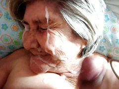79 Year Old Granny Sucking and Facial