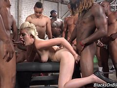 Sexy MILF Jenna swallows alot of black cum