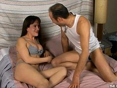 Tranny top takes charge and fills his ass with hard dick