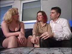 A German couple hooks up with another chick for a hot threesome