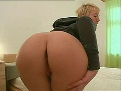 Mature blonde Malou gets her ass pounded deep and hard