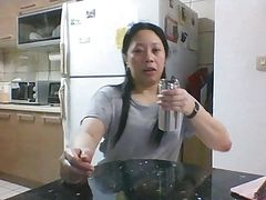 Skype Slut Miss Z Playing in Kitchen - Copy
