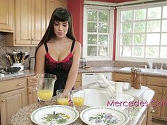 Busty cougars take turns massaging each other's curvy bodies