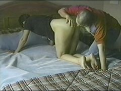 After a 69 this amateur gets railed from behind and loves it