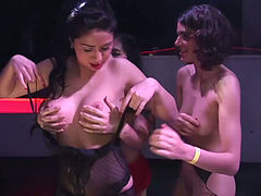 Extreme gangbang swinger party orgy