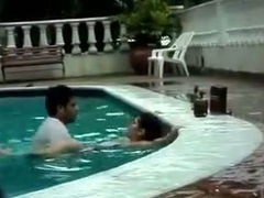 Shameless couple caught having sex in a public pool