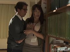Nasty hot ass Japanese chick Miku Sunohara gets drilled doggystyle in a hot orgasm