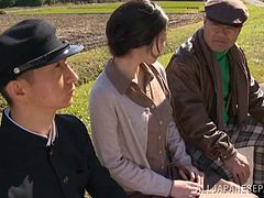 Japanese milf gets fucked in the fields in reality video
