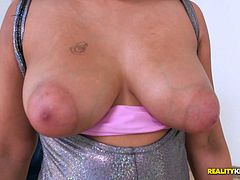 Black girl with big tits and puffy nipples fucked hardcore