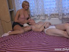Russian Cowgirl In Miniskirt Swallows Cum After Being Screwed