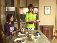 Sweet Japanese sweater girl makes love to a married man