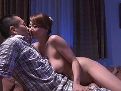 Cock sucking Japanese woman enjoys oral sex and facesitting