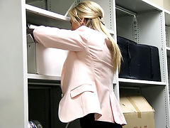 Czech Blonde Fucks in Office