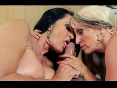 Two naughty ladies know how to work cock