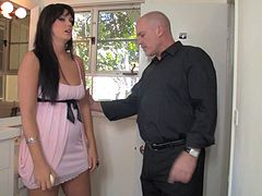 Mature slluts use this bald guy's cock in any way they please