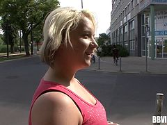 Chubby chick off the street is happy to get laid on camera