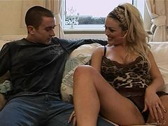Blonde Mature Slut Slurps Dicks And Gets Double Penetrated