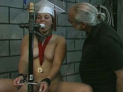 Unthinkably horny coed Angelina is really into BDSM