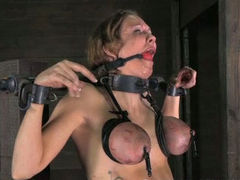 Inked whore is getting brutally punished by her cunning bondage master