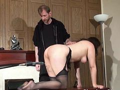 Amateur slave Jannas kinky fetish and bizarre machine fucking